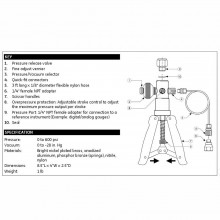Druck PV211 Pneumatic Hand Pump