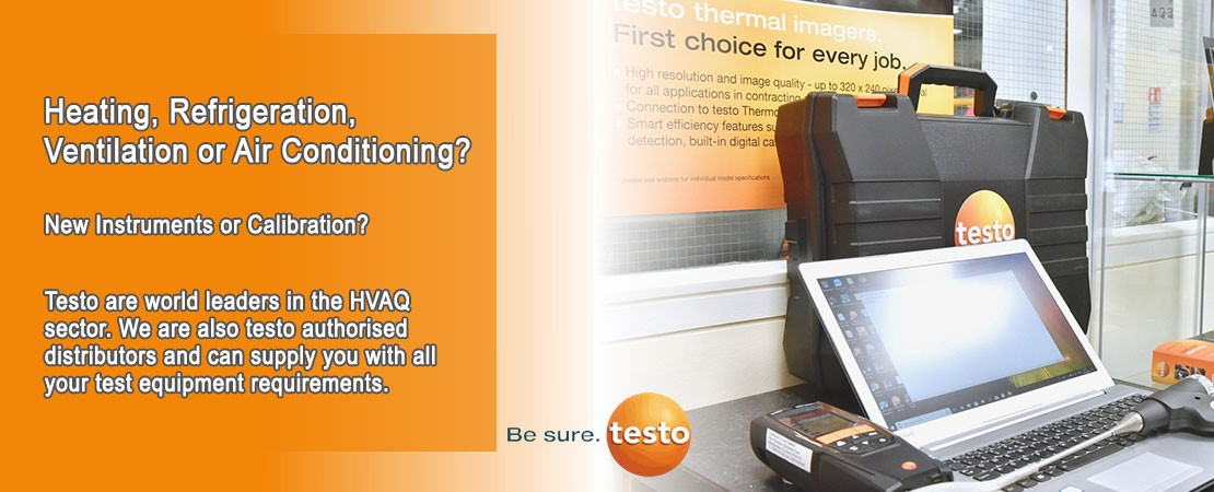 we are an official testo authorised distributor