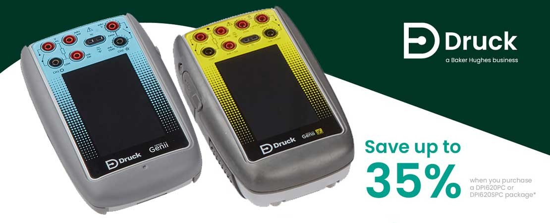 Druck DPI620 Calibrator Package solutions. Available for a limited time only. Save up to 35%!