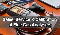 Flue gas Analyser sales, service and calibration